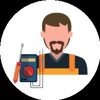 Illustration d'un électricien